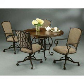 Muebles de mesa de comedor: juego de mesa de comedor con ruedas