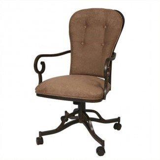 Sillón tapizado de comedor, sillas de comedor con ruedas ...