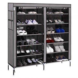 Gabinete de almacenamiento de calzado portátil Homdox Zapato de ahorro de espacio ...