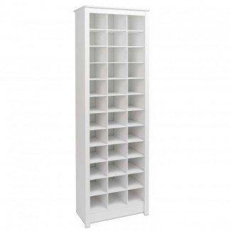 Gabinete de almacenamiento de zapatos de ahorro de espacio Prepac blanco WUSR-0009-1