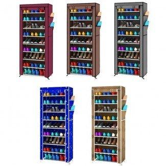 Almacenamiento de estante para armario de zapatos de 9 capas para guardar espacio ...