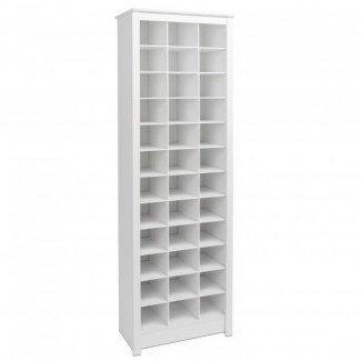 Gabinete para guardar zapatos que ahorra espacio, blanco   Prepac ...