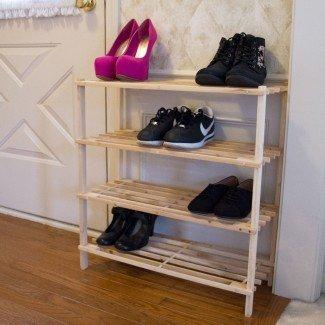 Estante para zapatos de 4 niveles y 12 pares
