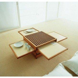 Diseño que ahorra espacio: mesas plegables de café y cena