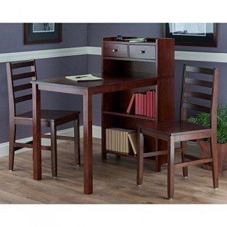 Set de pub Winsome Tyler de 3 piezas con estante de almacenamiento y sillas de escalera