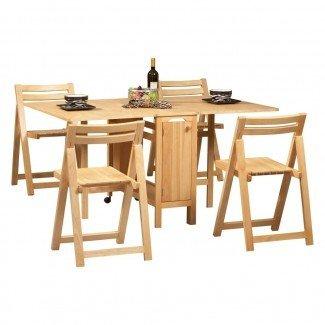 Diseño para el hogar: 81 mesas de comedor que ahorran espacio.