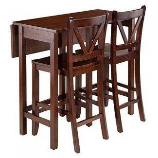 Winsome Trading Lynnwood Juego de mesa de comedor de 3 piezas de altura de mostrador