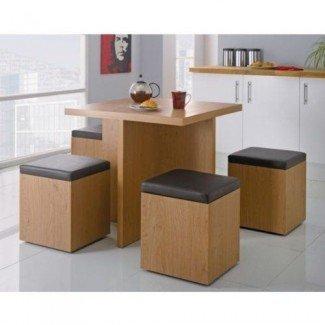 Mesa de comedor que ahorra espacio | Pequeños interiores de casas | Pinterest