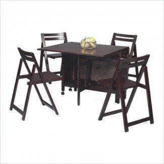 Mesa de comedor: Juego de mesa de comedor que ahorra espacio