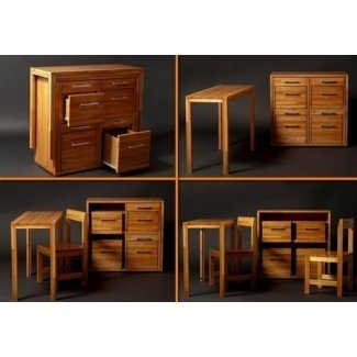 Armario para muebles que ahorra espacio con mesa y sillas ...