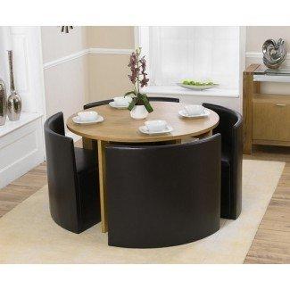 Mesas de comedor que ahorran espacio para un comedor minimalista ...