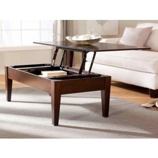 Misceláneos: Mesa de café ajustable en altura redonda ...