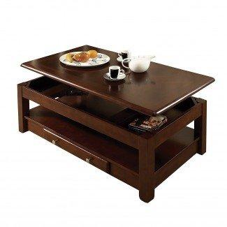 Mesas de comedor: Mesa de centro redonda de altura ajustable ...