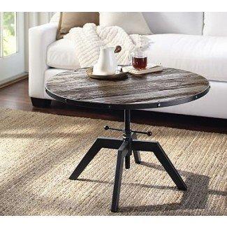 Blaine Reclaimed Wood Ajustable Bunching Coffee Table ...