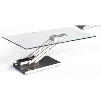 Mesa de centro Ryan con base de acero ajustable