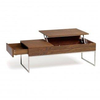 Mesa de centro rectangular de altura regulable blanca Ikea con ...