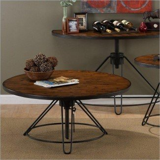 Mesa de centro redonda de altura ajustable | Coffee Table Design ...