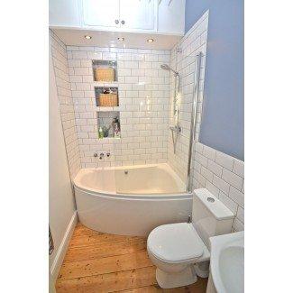 Interior: Ideas de bañera y ducha de baño Bloque de vidrio ...