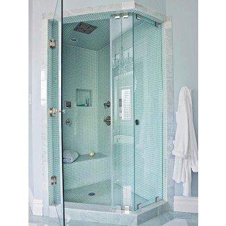 Banco de ducha empotrado y súper guía de asiento de esquina | Ensotile