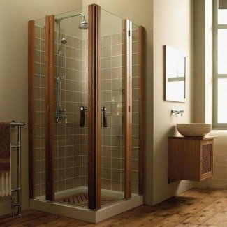 Pequeño: duchas de esquina para baños pequeños ...