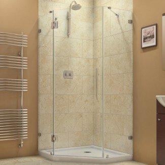 """Cabina de ducha con bisagras Neo-ángulo Prism Lux de 38 """"x 38"""" x 72 """""""