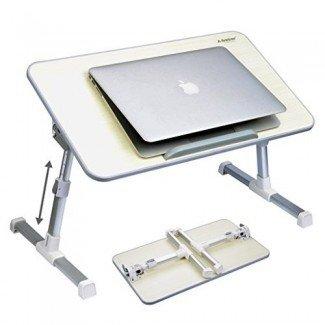 Bandeja de cama de mesa portátil ajustable de calidad Avantree, escritorio de pie portátil