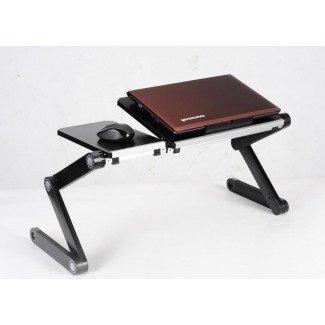 Escritorio de la computadora portátil en la cama - Bandeja de corte ergonómica para laptop