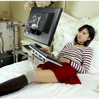 Mesa de cama para computadora portátil de computadora de escritorio ajustable universal ...