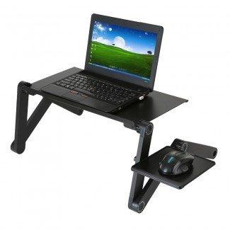 Mesa de escritorio portátil ajustable para computadora portátil Plegable 360 grados ...
