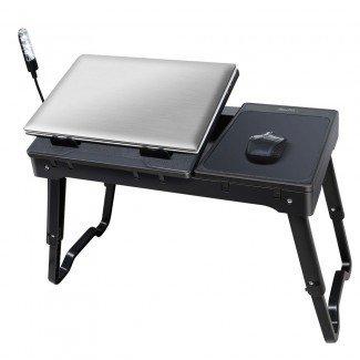 Bandeja de mesa plegable para computadora portátil con escritorio de tableta con ventilador de enfriamiento ...
