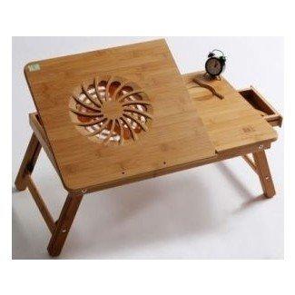 Mesa portátil multifuncional / bandeja de cama portátil de bambú ...