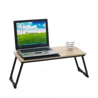 Mesa de computadora portátil de escritorio ajustable portátil plegable ...