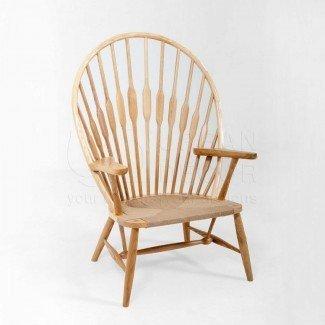 Replica de silla de pavo real [19659043] PP550 Silla de pavo real por Hans Wegner (réplica de platino)