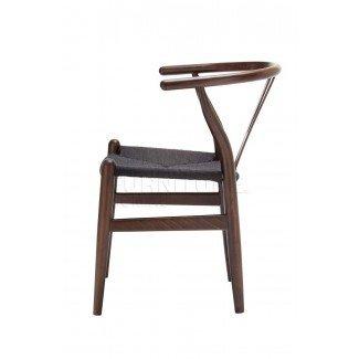 Silla Wishbone Nogal oscuro con asiento de cuerda de color negro ... [19659035] Hans Wishbone Silla-Premium American Ash | room296