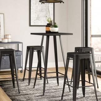 Juego de mesa de pub Racheal Loft de 5 piezas [19659010] Este juego de comedor viene con una mesa y cuatro sillas. Por lo tanto, este paquete de 5 juegos es una compra de valor. La parte más atractiva del conjunto es todo el diseño, aspecto y sensación. Es delgado y limpio, por lo que es una opción ideal si tiene una configuración moderna de diseño de interiores. </div> </p></div> <div class=