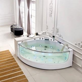 Corner Whirlpool Bathtub, 2 Person Hot Tub