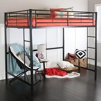 Nueva cama con marco de metal negro Full Over Loft