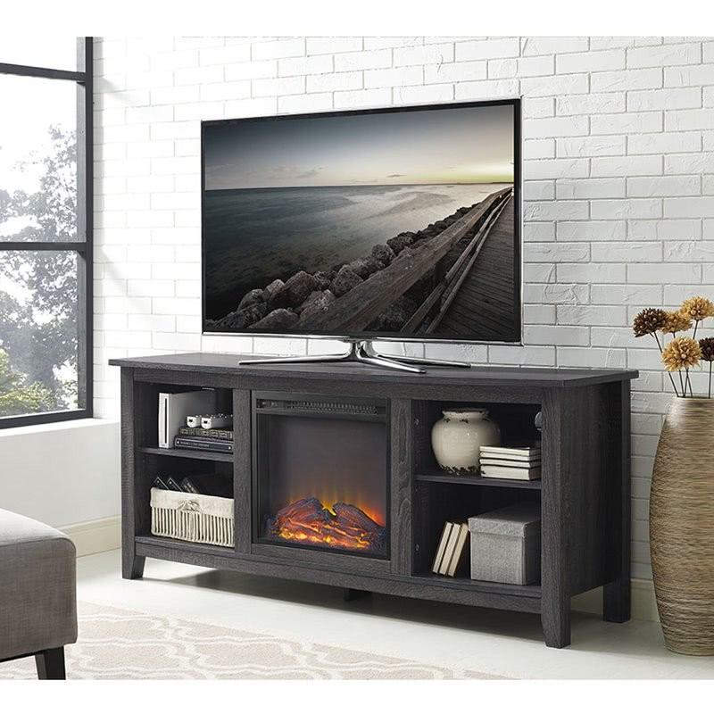 """Sunbury Soporte de TV de 58"""" con chimenea eléctrica"""