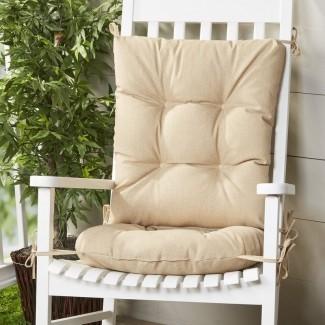 Juego de cojines de silla mecedora de 2 piezas para interiores y exteriores Wayfair Basics