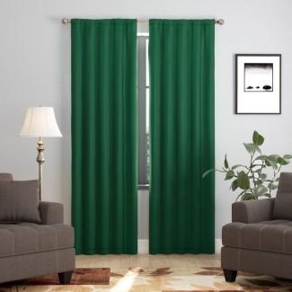 Darrah Solid Panel de cortina simple opaca
