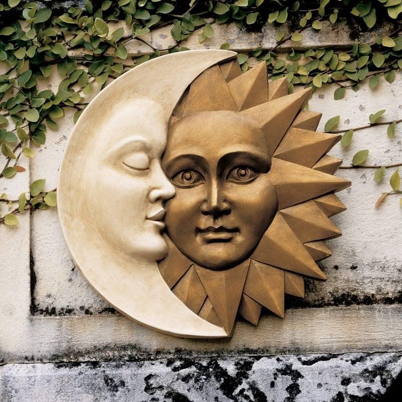 Decoración de la pared del sol y la luna