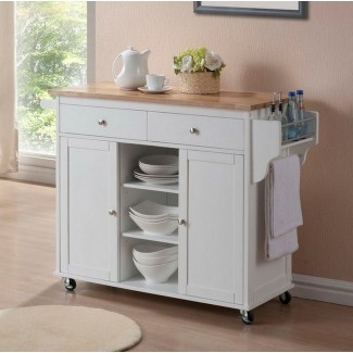 Muebles-Tall-White-Wooden-Kitchen-Pantry-Cabinet-With ...