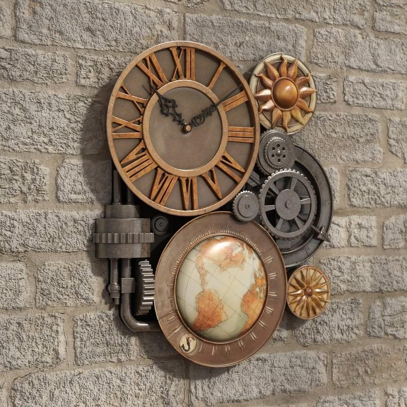 Reloj de pared escultural Oakland Gears