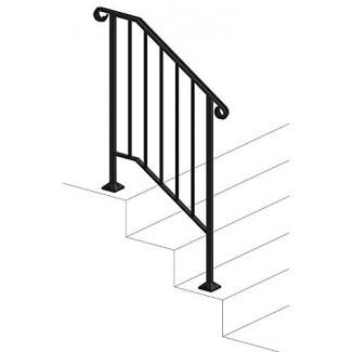Iron X Handrail Picket # 2