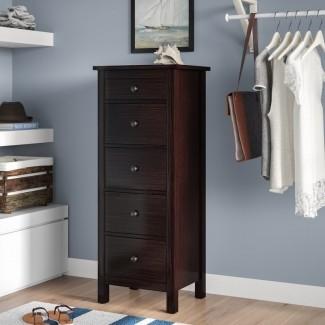 Bryant 5 Drawer Lingerie Chest [19659010] Cofre de lencería Bryant de 5 cajones </b><br /> Este cofre de lencería minimalista ofrece una mezcla creativa de versatilidad en diseño y función. Cuenta con un total de cinco cajones con una estética atractiva pero discreta. Su diseño compacto también garantiza que se pueda colocar en cualquier rincón de la habitación sin abarrotarla. </div> </p></div> <div class=