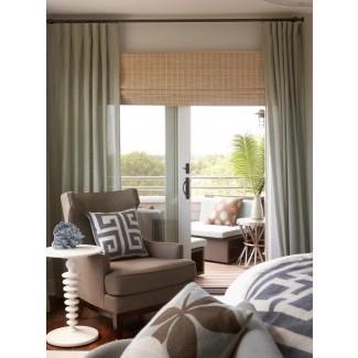 persianas de puertas corredizas de vidrio-Family-Room-Contemporary-with ...