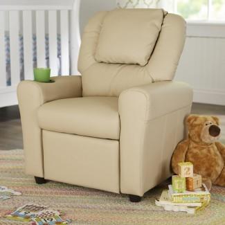 Sillón reclinable contemporáneo personalizado para niños con portavasos