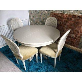 Mesa y sillas de comedor Shabby Chic • £ 90.00 -
