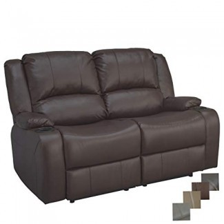 "Sofá reclinable Hugger reclinable de pared doble eléctrico de 58 ""RecPro Charles Loveseat RV"