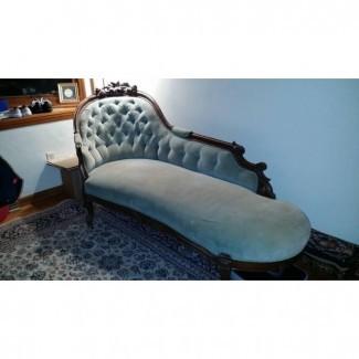 Sofá desmayo victoriano antiguo | Chairish